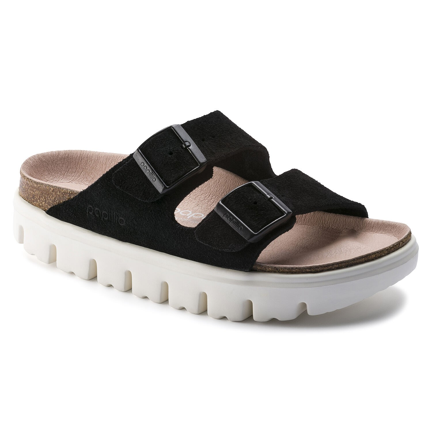 Birkenstock Arizona VL Chunky Suede Black Narrow