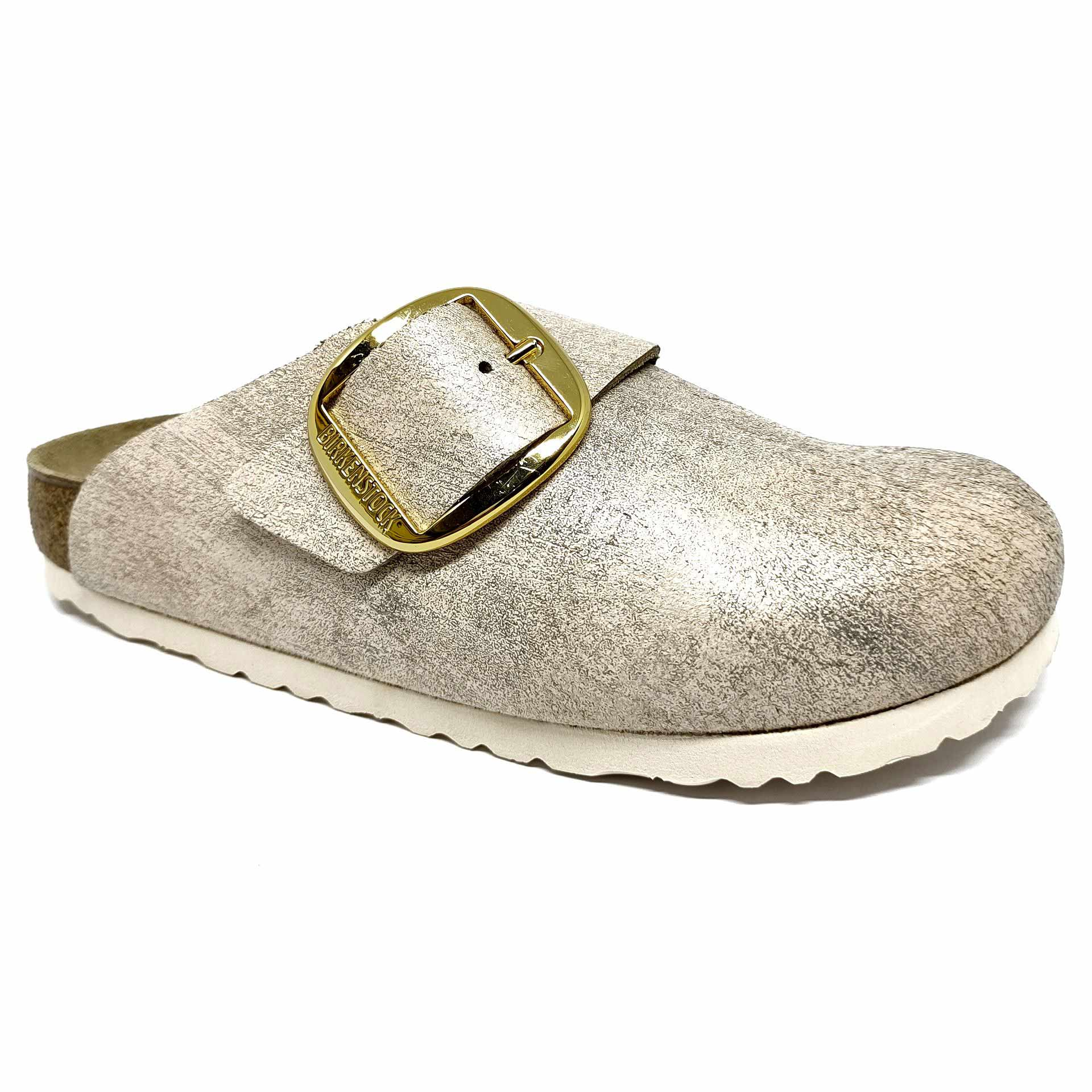 Birkenstock Basel BB VL Washed Metallic Rose Gold Narrow