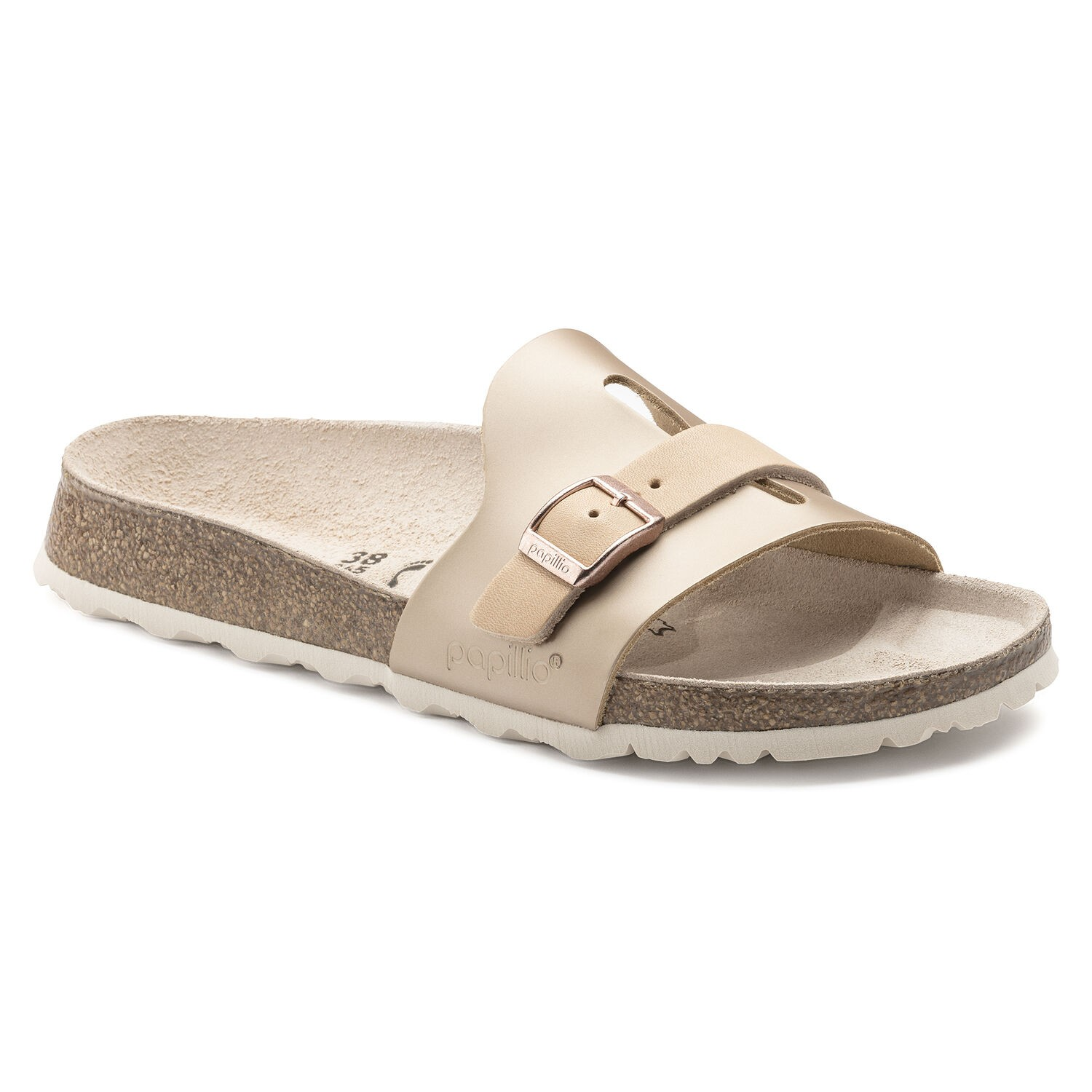 Birkenstock Carmen NL Frosted Metallic Rose Narrow