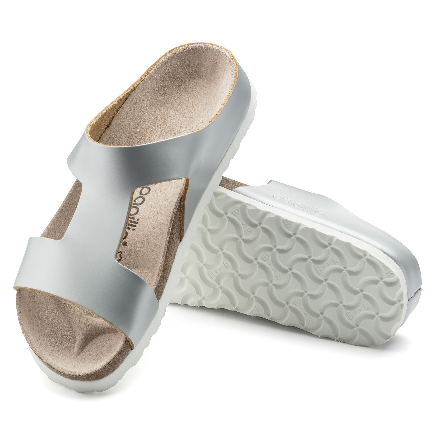 Birkenstock Charlize NL Frosted Metallic Silver Narrow