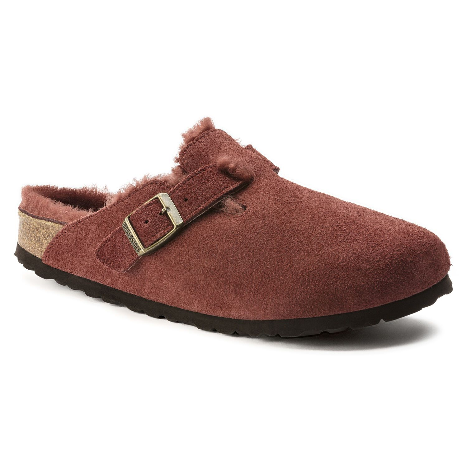 Birkenstock Clog Boston Vl Antique Port Lammfell Narrow EN