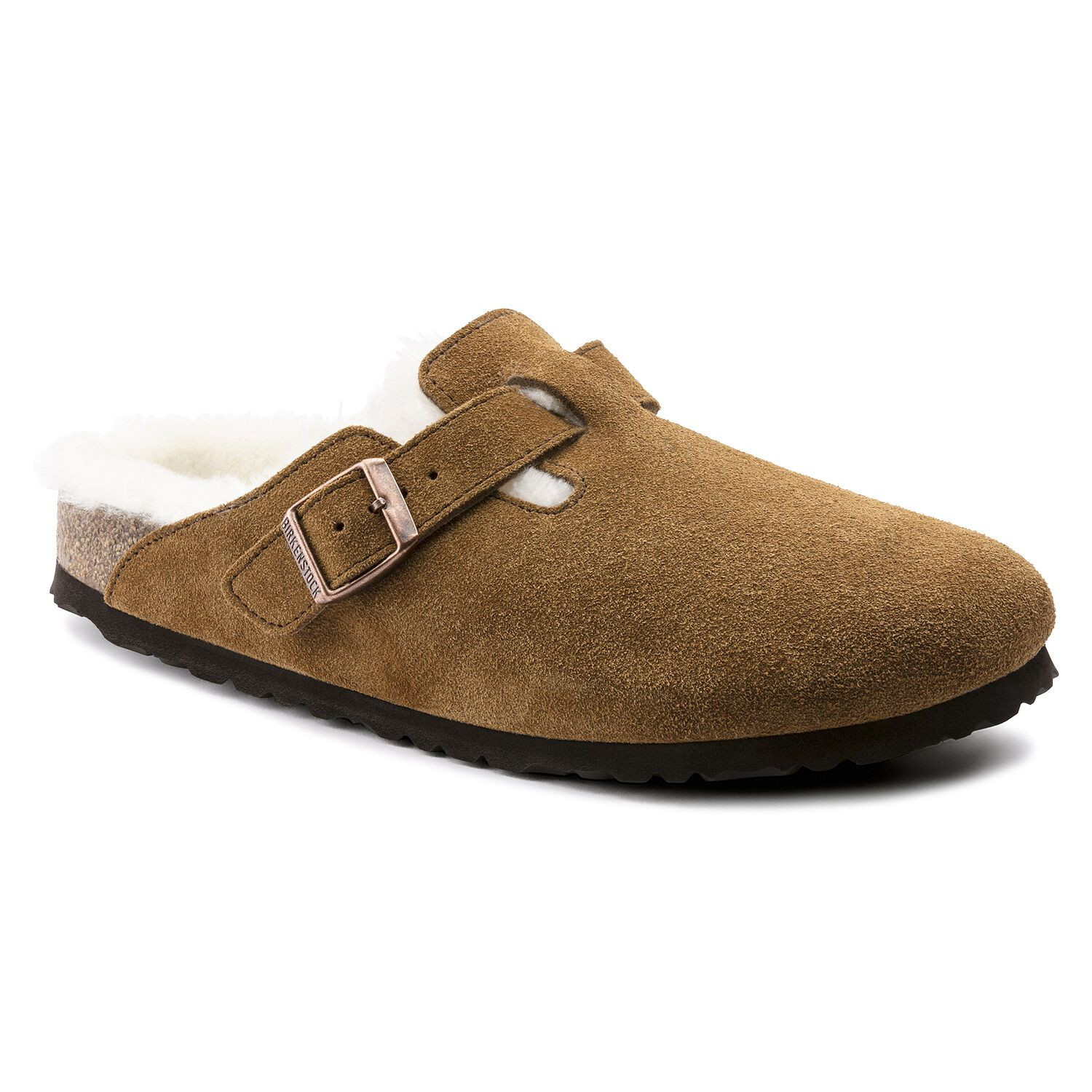Birkenstock Clog Boston Vl Mink Lammfell Regular EN