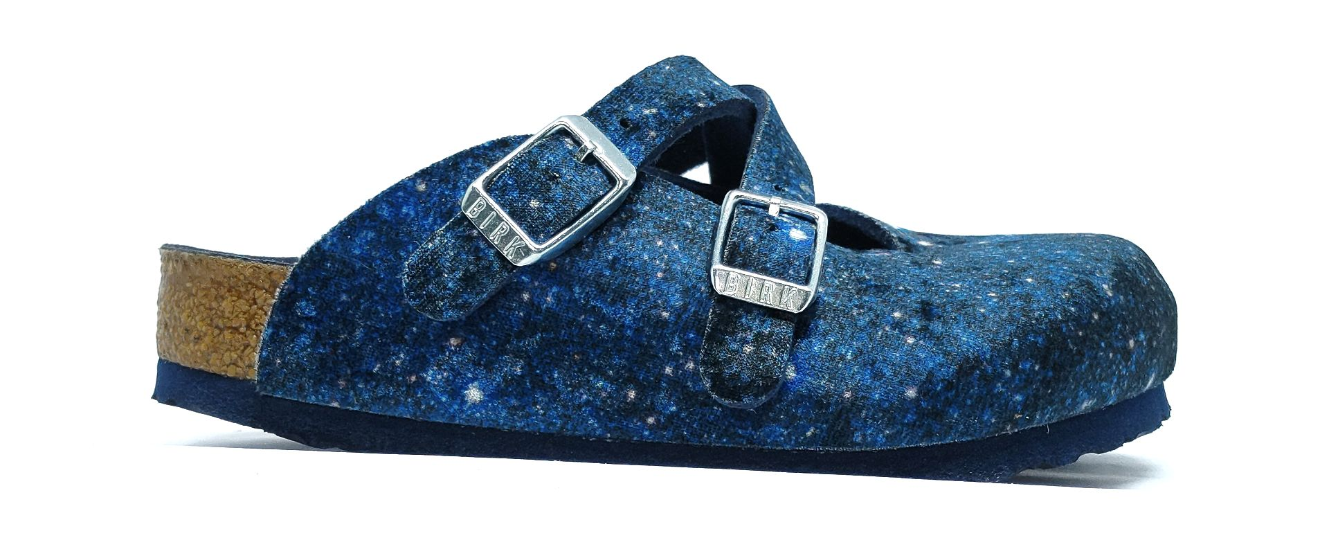 Birkenstock Dorian Kids TEX Velvet Milky Way Blue Narrow