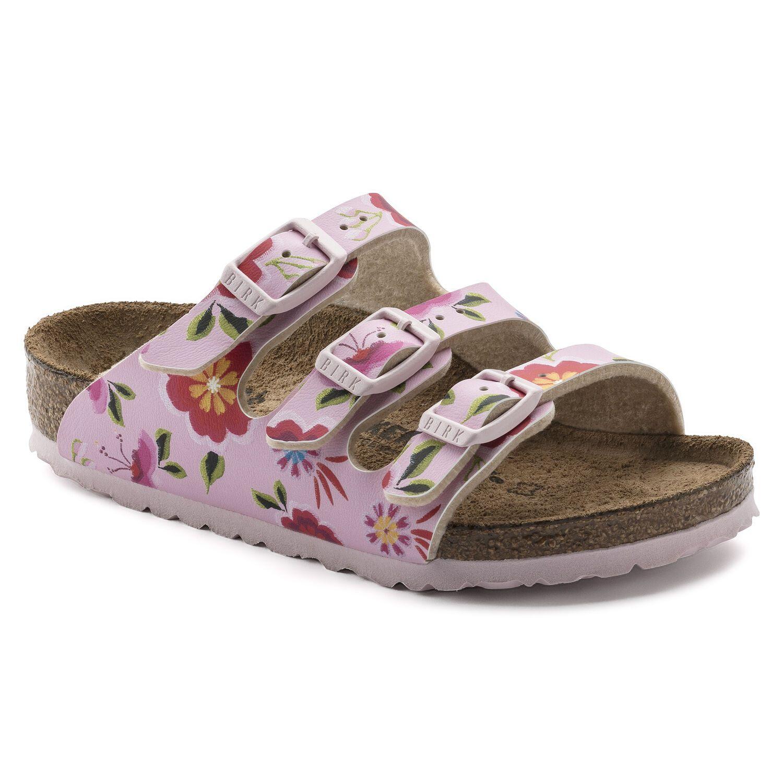 Birkenstock Florida Kids BF China Flowers Pink Narrow EN