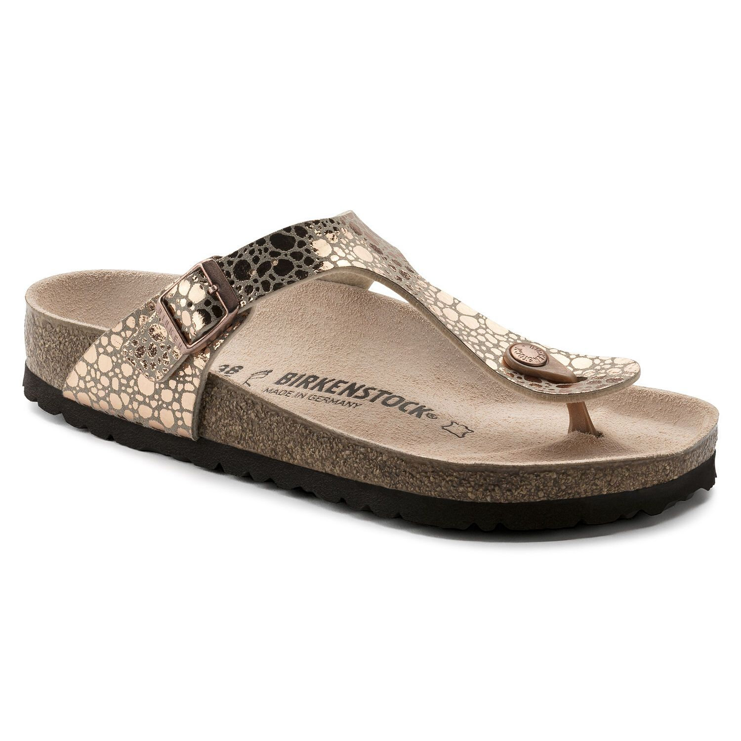 Birkenstock Gizeh Bf Metallic Stones Copper Regular EN