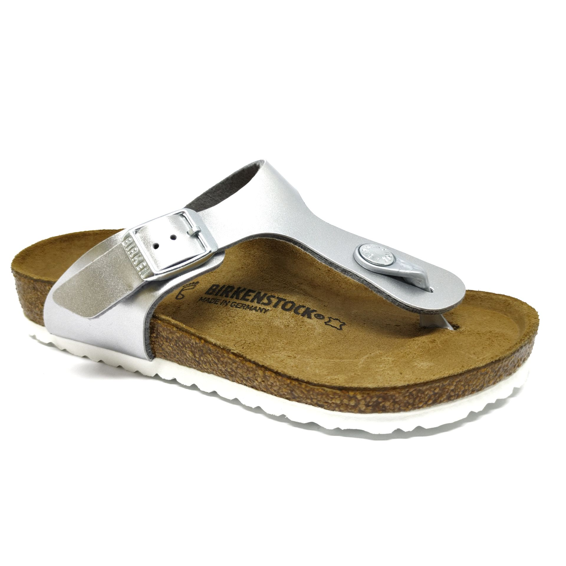 Birkenstock Gizeh Kids BF Eletric Metallic Silver Regular