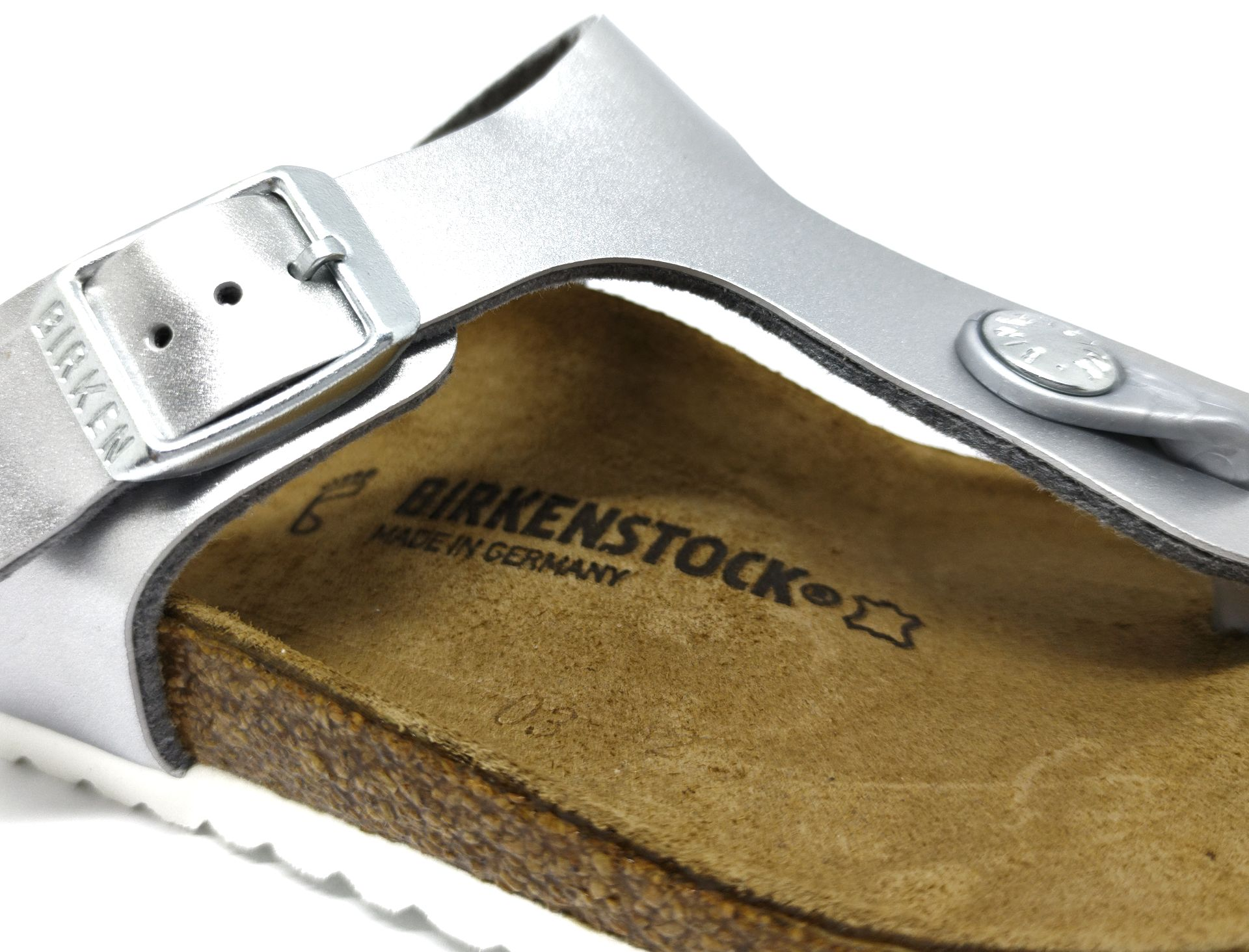 Birkenstock Gizeh Kids BF Eletric Metallic Silver Regular