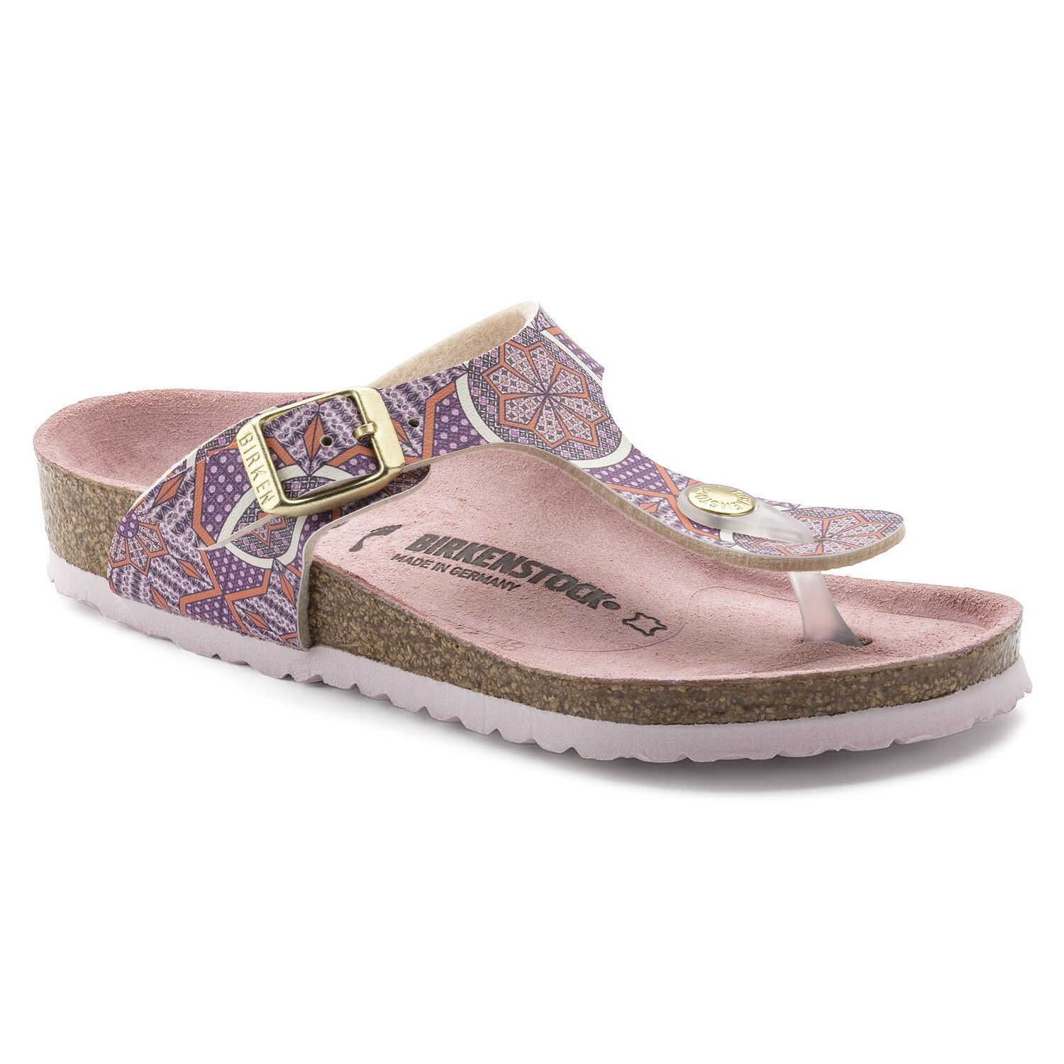 Birkenstock Gizeh Kids BF Oriental Tiles Rose Narrow EN