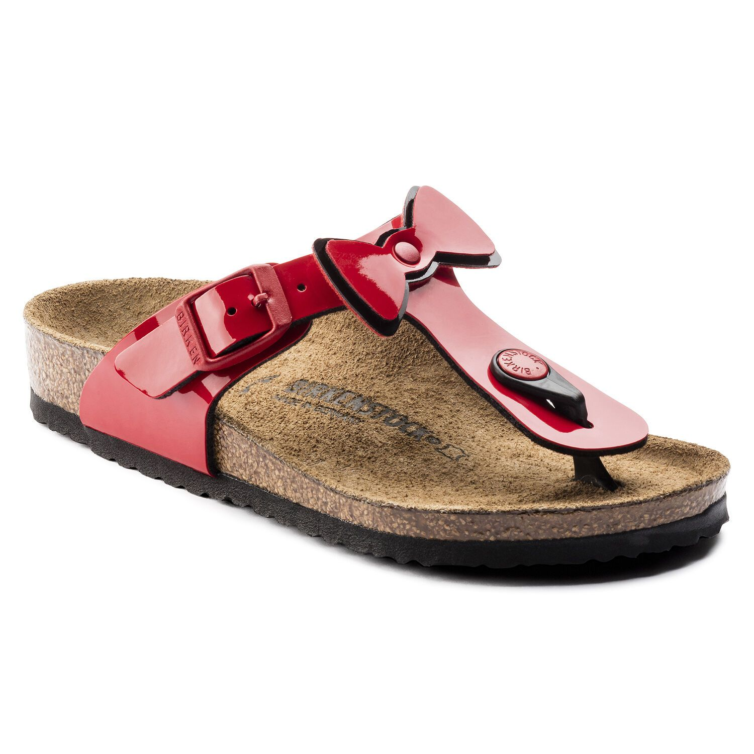 Birkenstock Gizeh Kids BF Two Tone Red Ribbon Narrow