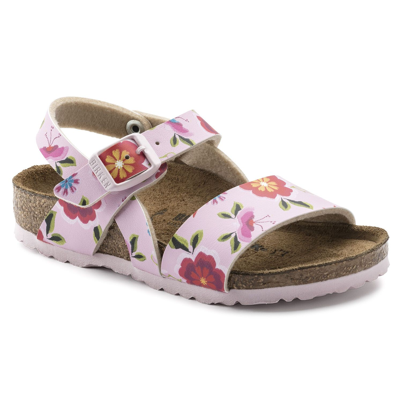 Birkenstock Isabella Kids BF China Flowers Pink Narrow EN