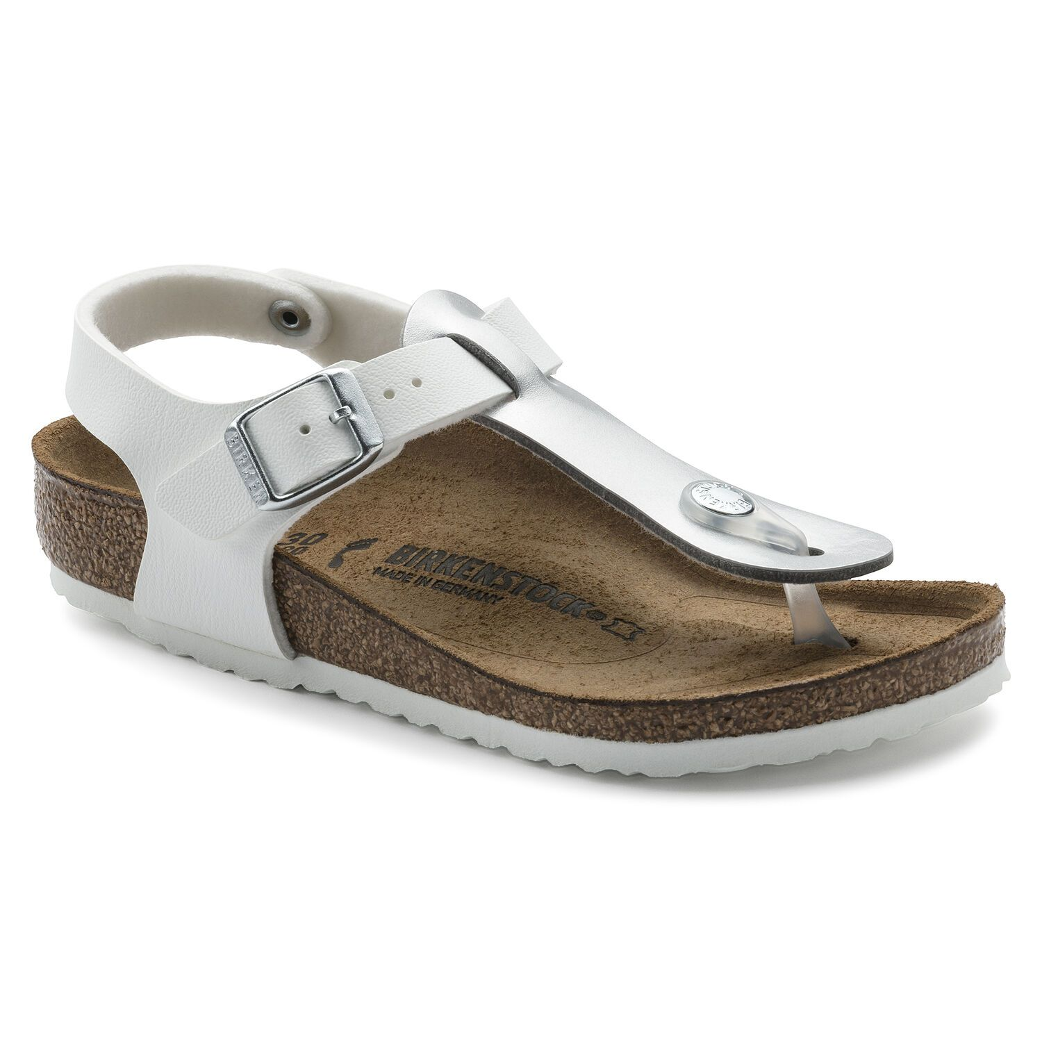 Birkenstock Kairo Kids BF Soft Metallics Silver White Narrow EN