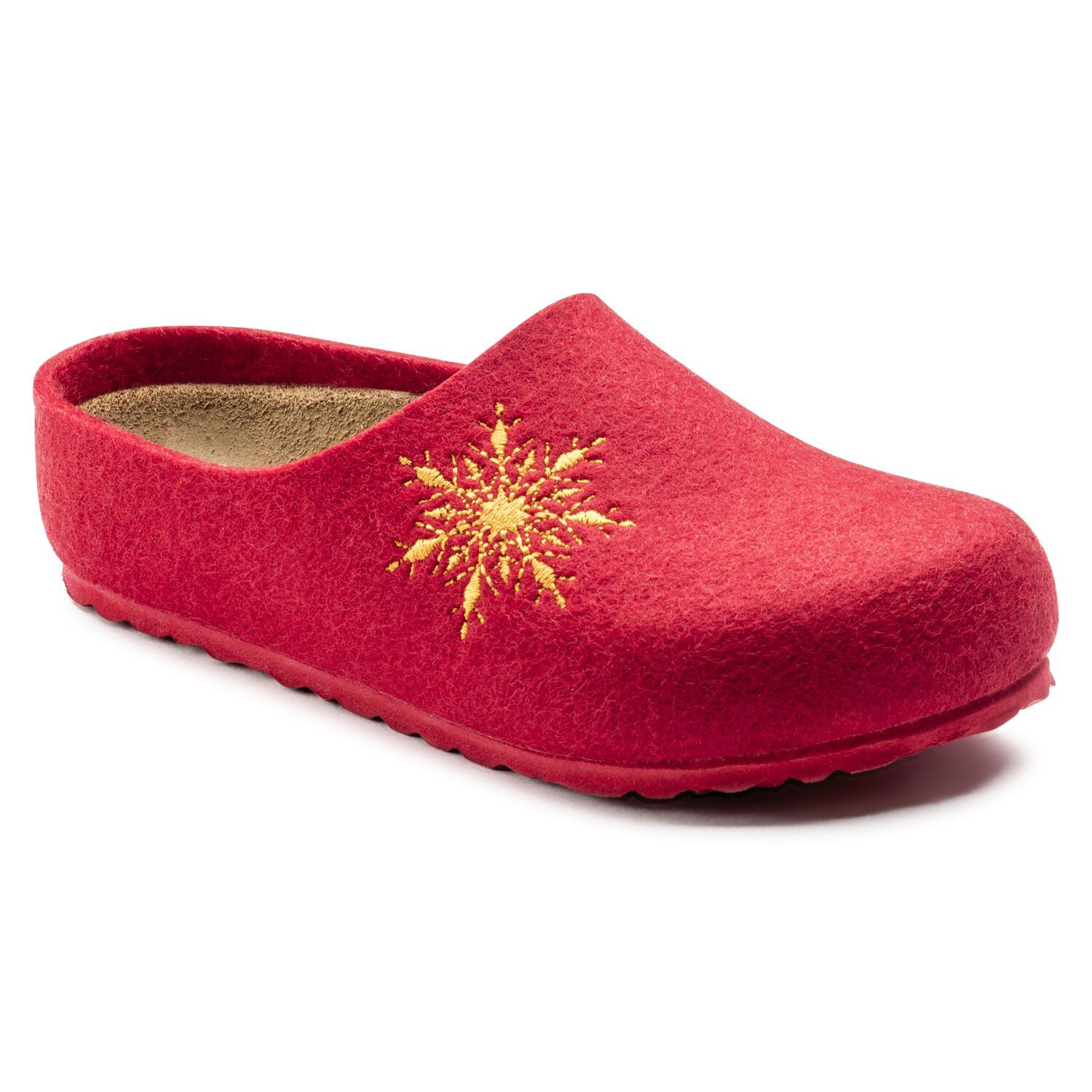 Birkenstock Kaprun Kids Felt Red Snow Star Narrow EN