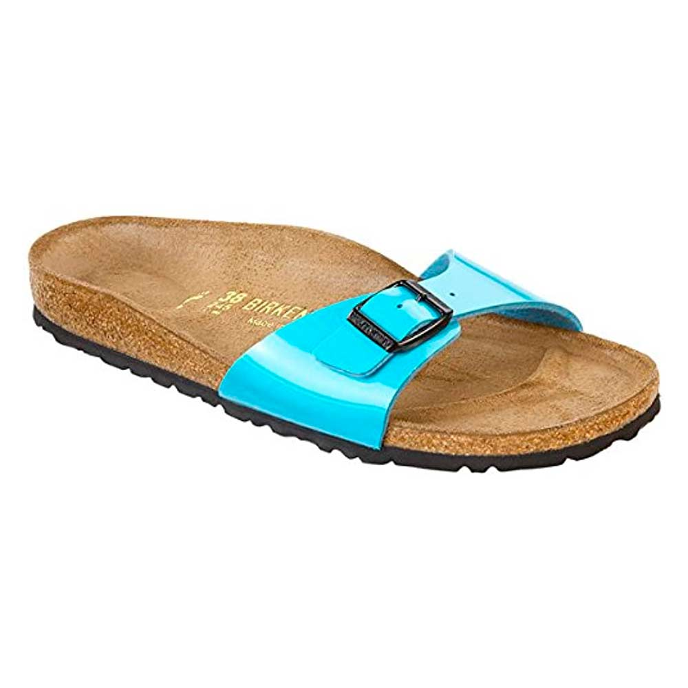 Birkenstock Madrid Bf Patent Blue Narrow EN