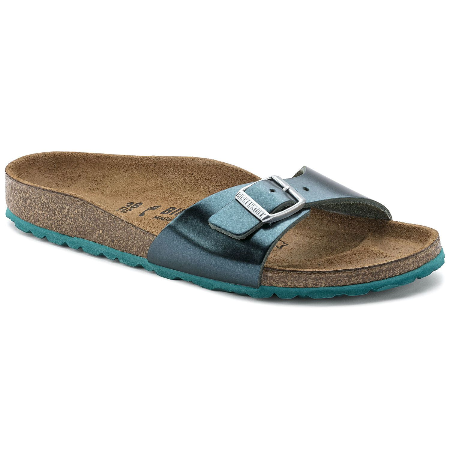 Birkenstock Madrid Nl Metallic Green Narrow EN