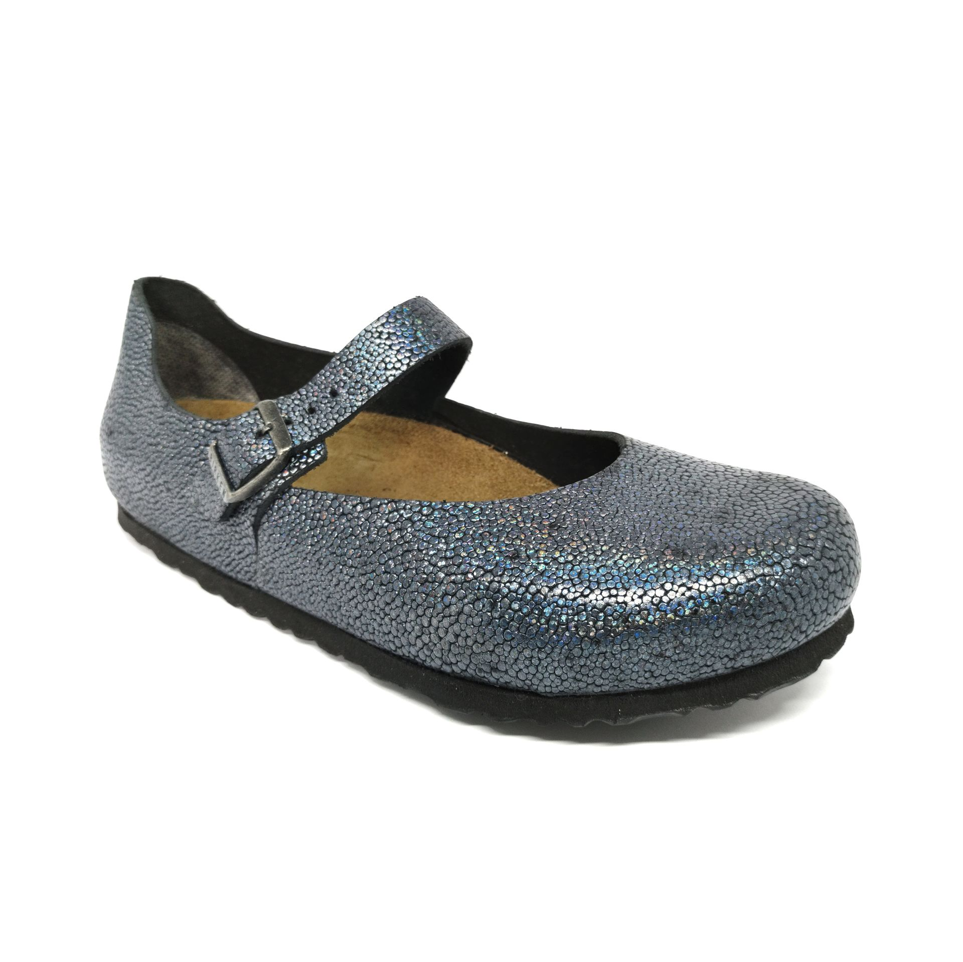 Birkenstock Mantova NU Pebbles Metallic Asphalt Narrow