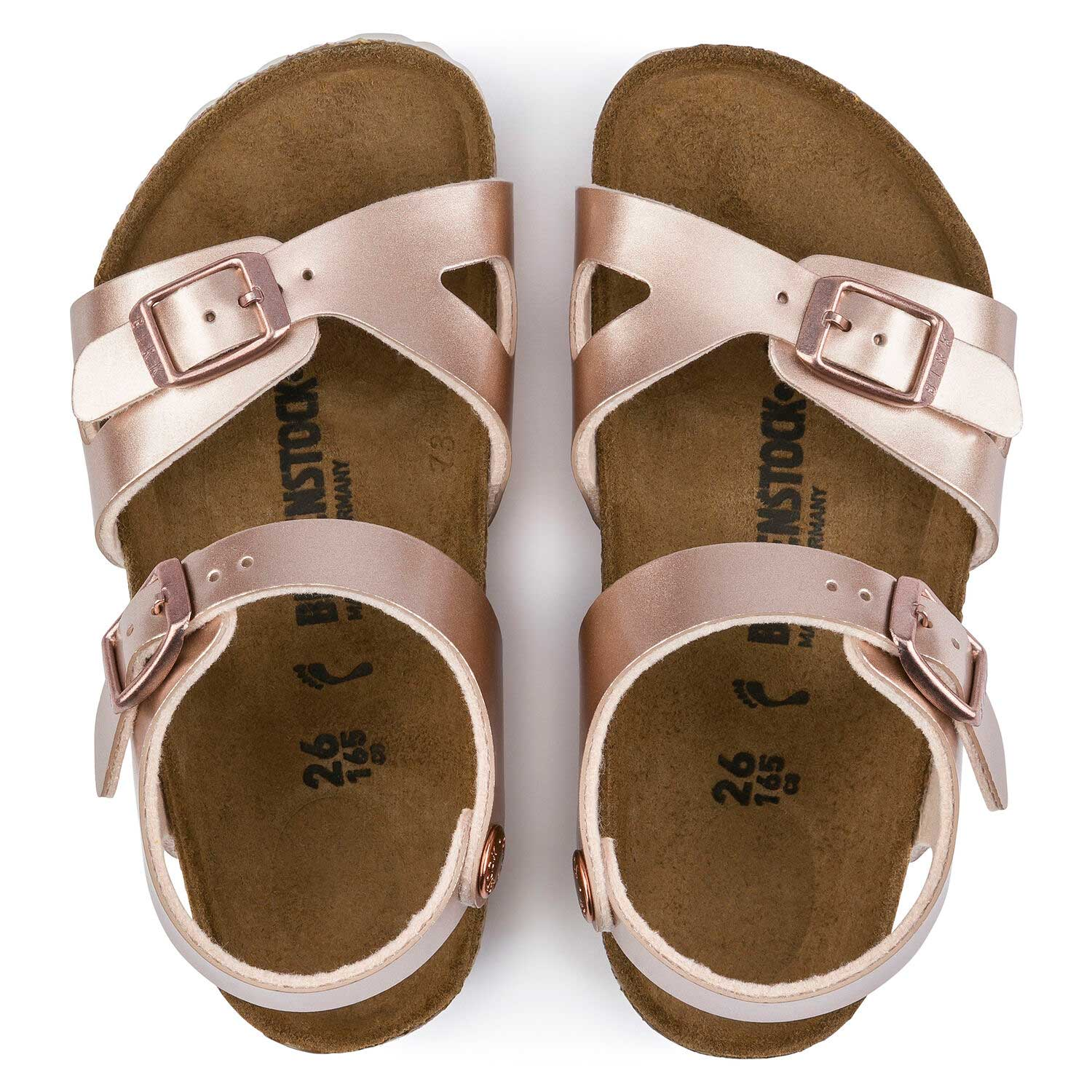 Birkenstock Rio Kids BF Electric Metallic Copper Narrow