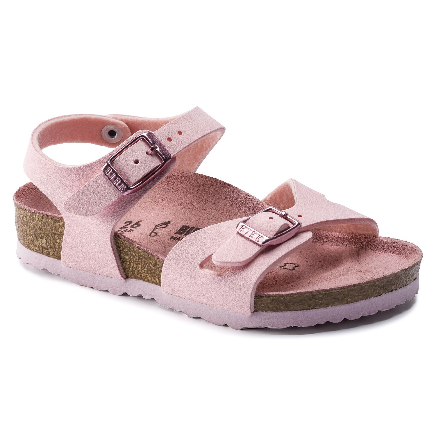 Birkenstock Rio Kids BF Nubuck Rose Narrow