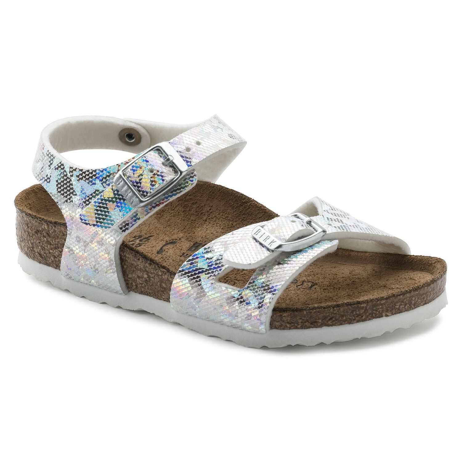 Birkenstock Rio Kids MF Hologram Silver Narrow EN