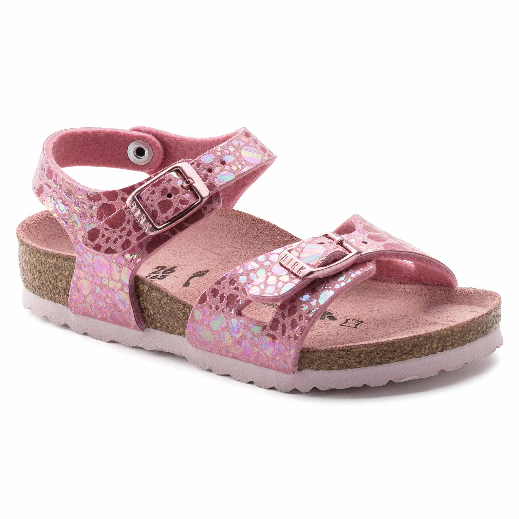 Birkenstock Rio Kids MF Metallic Stones Pink Narrow EN