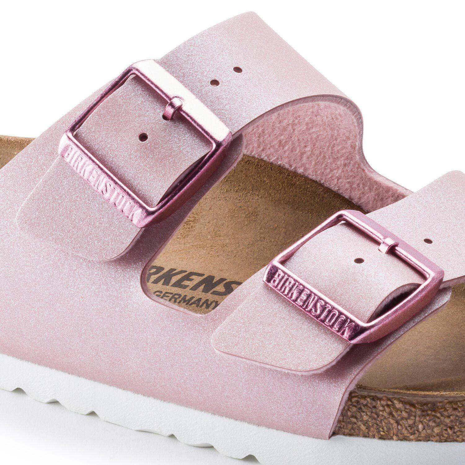 Birkenstock Sandália Arizona BF Icy Metallic Old Rose Narrow