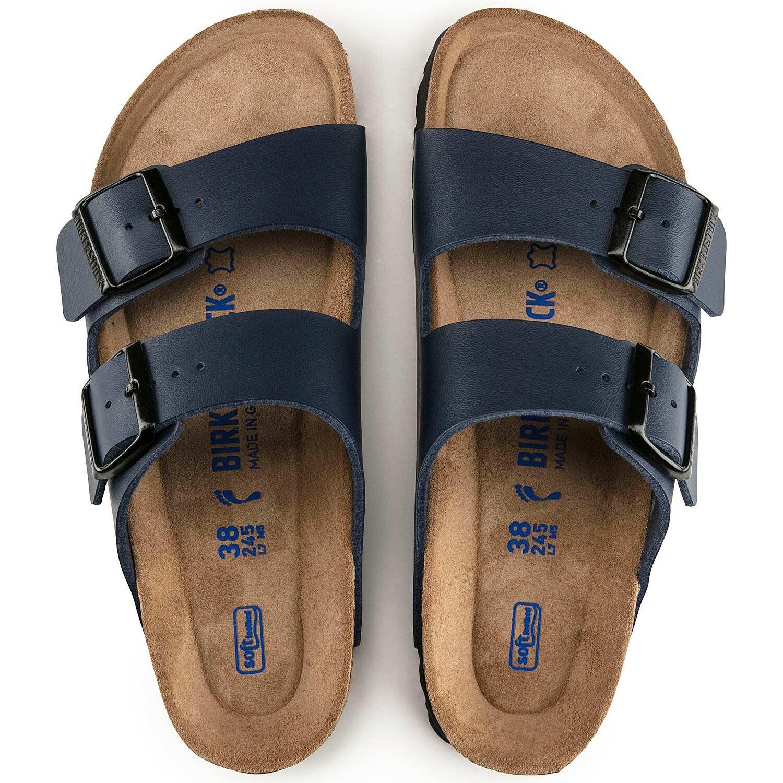 Birkenstock Sandália Arizona BF Soft Footbed Regular Azul