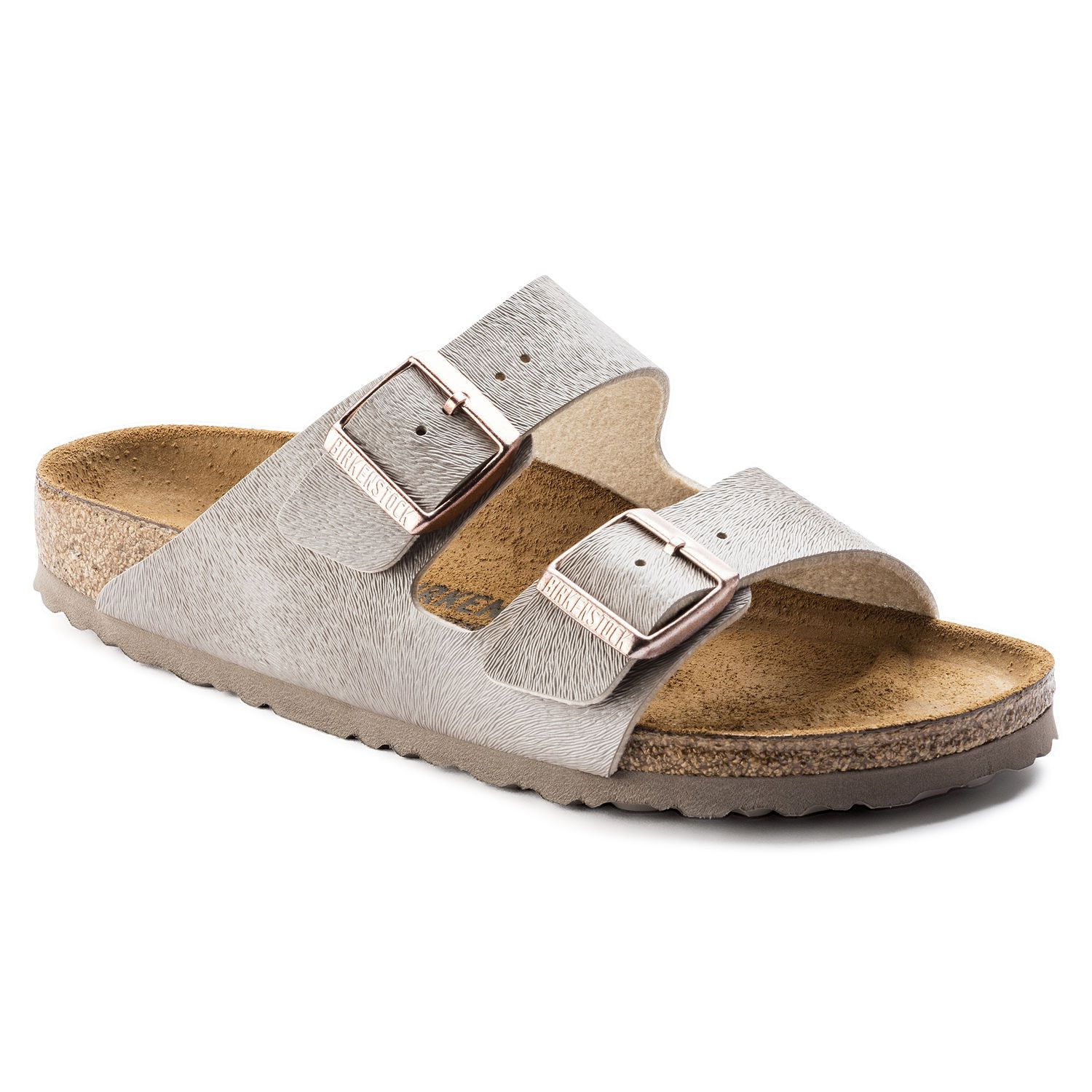 Birkenstock Sandália Arizona Couro Birko-Flor Narrow Rose