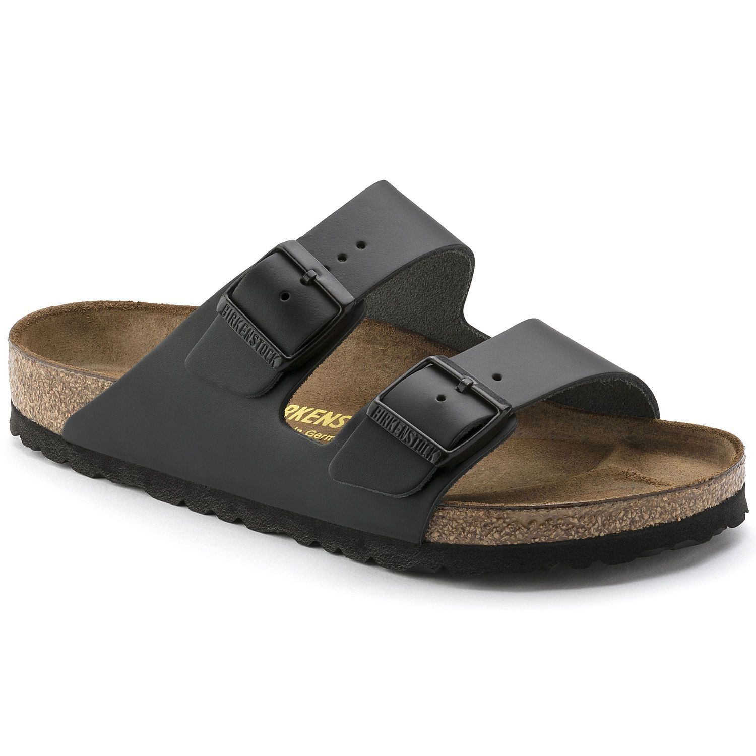 Birkenstock Sandália Arizona Couro Natural Narrow Preto