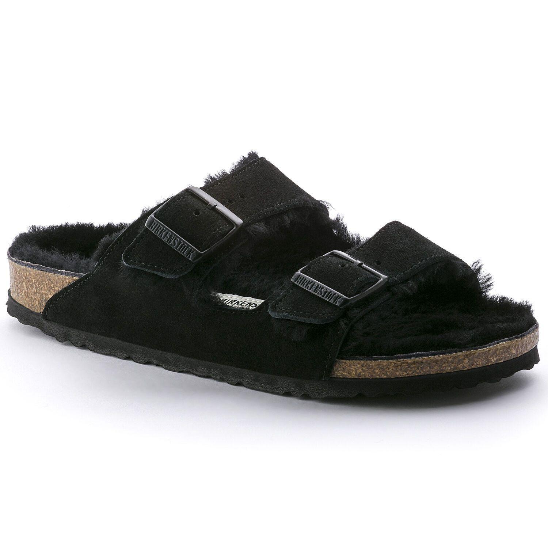 Birkenstock Sandália Arizona Fur Vl Black  Narrow EN
