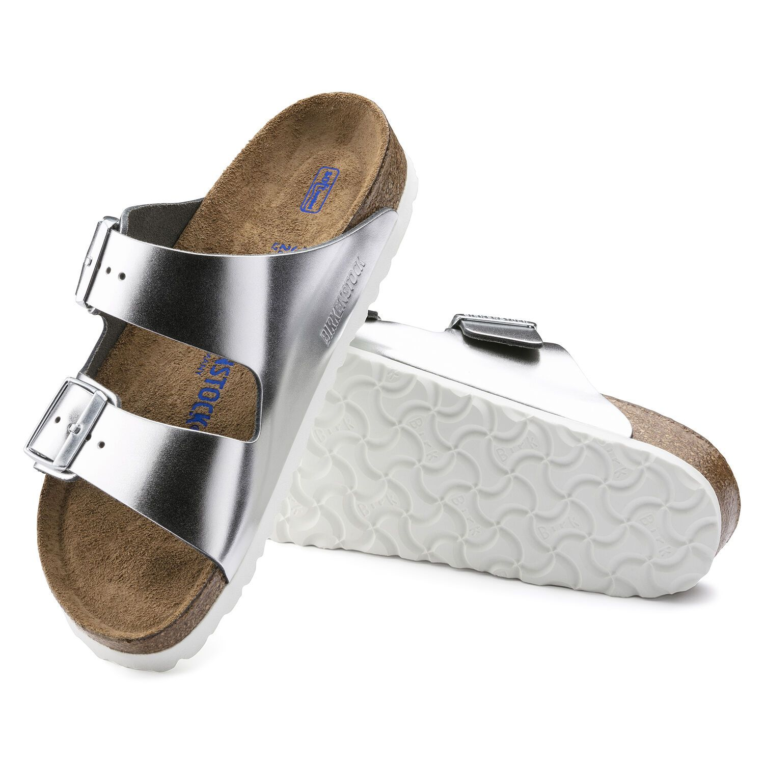 Birkenstock Sandália Arizona Nl Sfb Metallic Silver Narrow