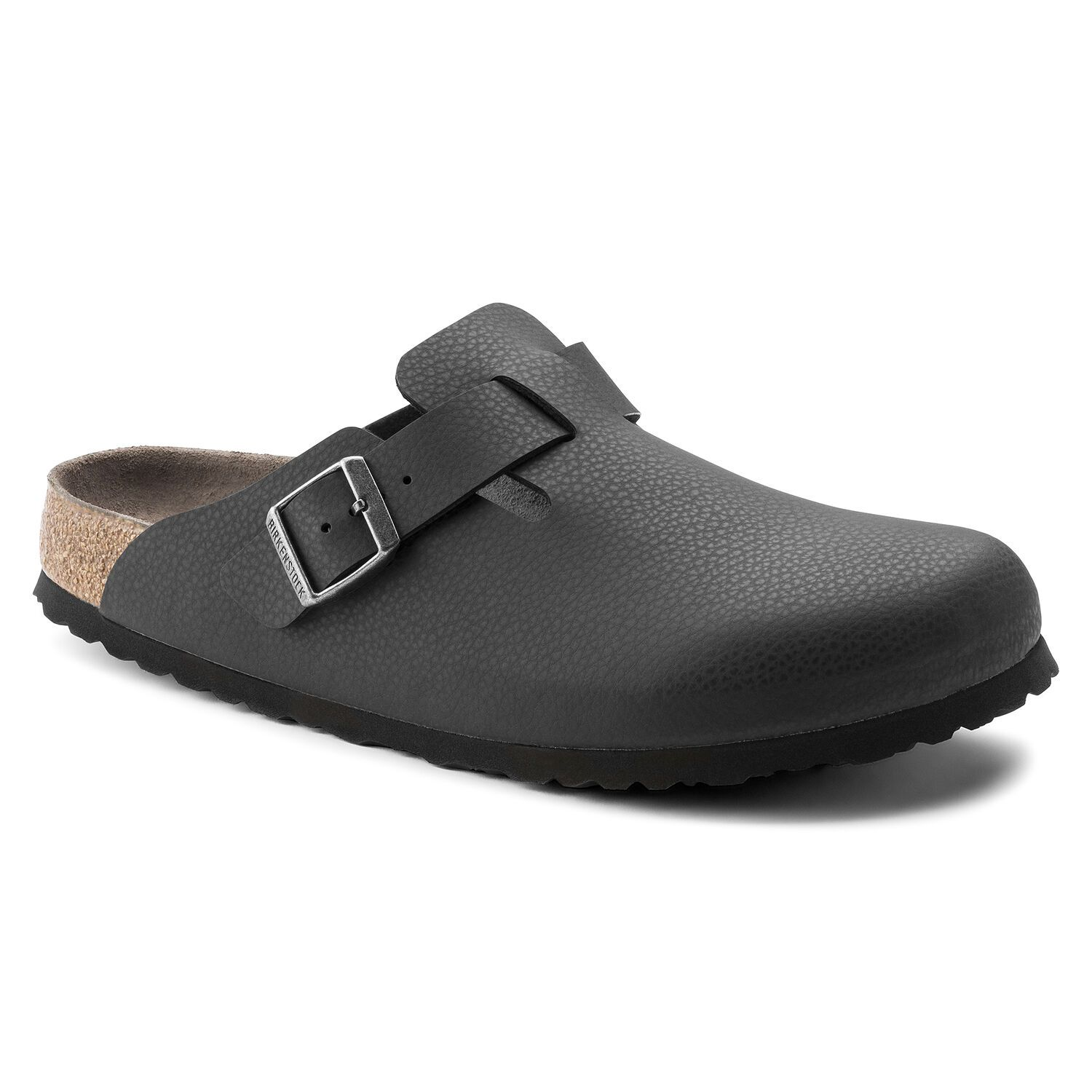 Birkenstock Sandália Boston BF Soft Footbed Regular Preto