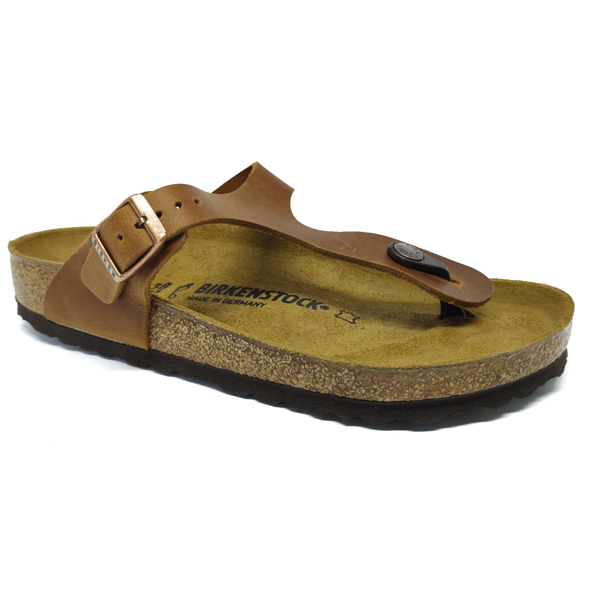 Birkenstock Sandália Gizeh NU Oiled Antique Brown Regular