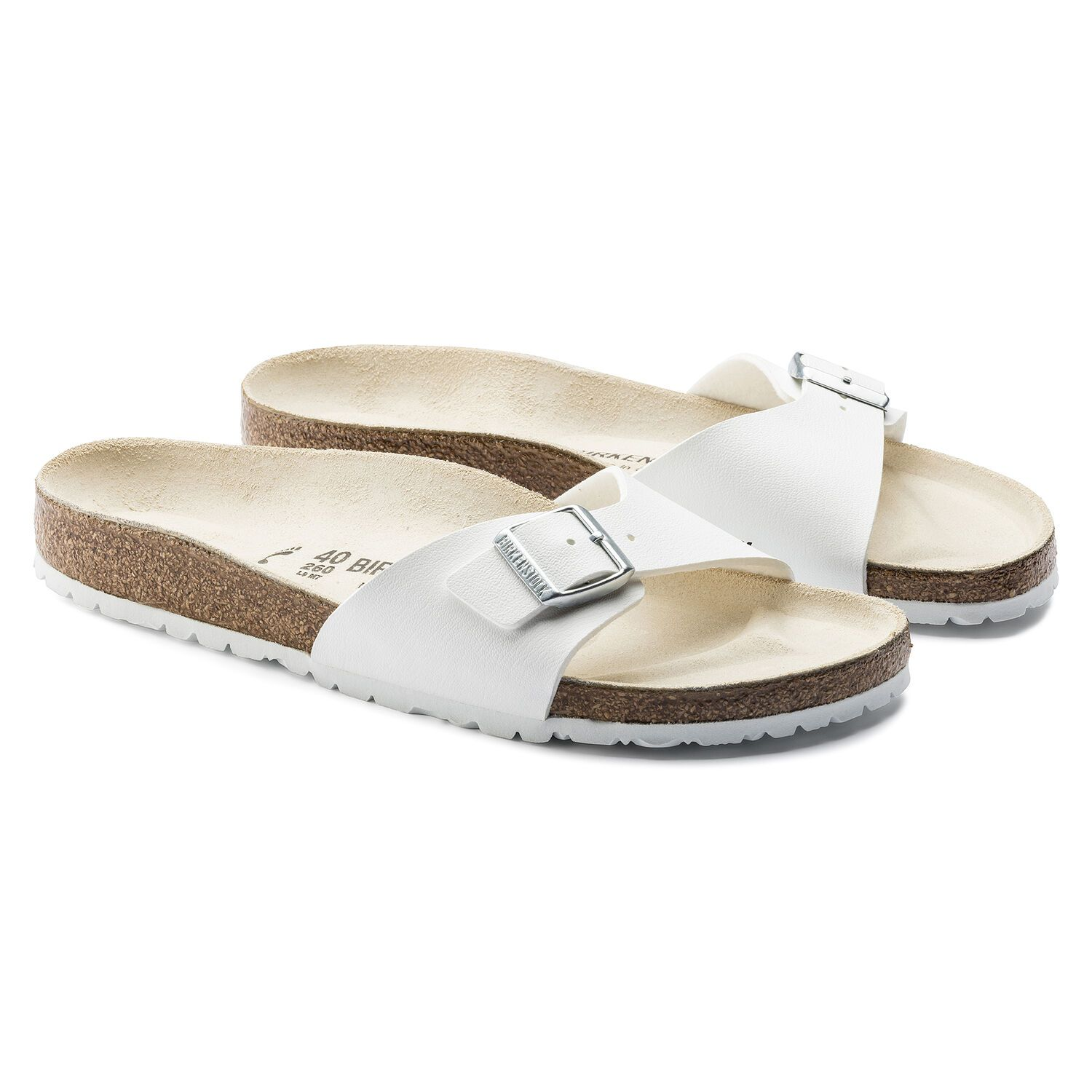 Birkenstock Sandália Madrid BF White Narrow