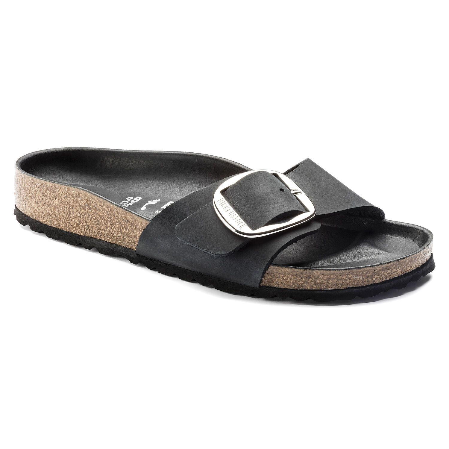 Birkenstock Sandália Madrid Big Buckle Fl Black Hex Black Narrow