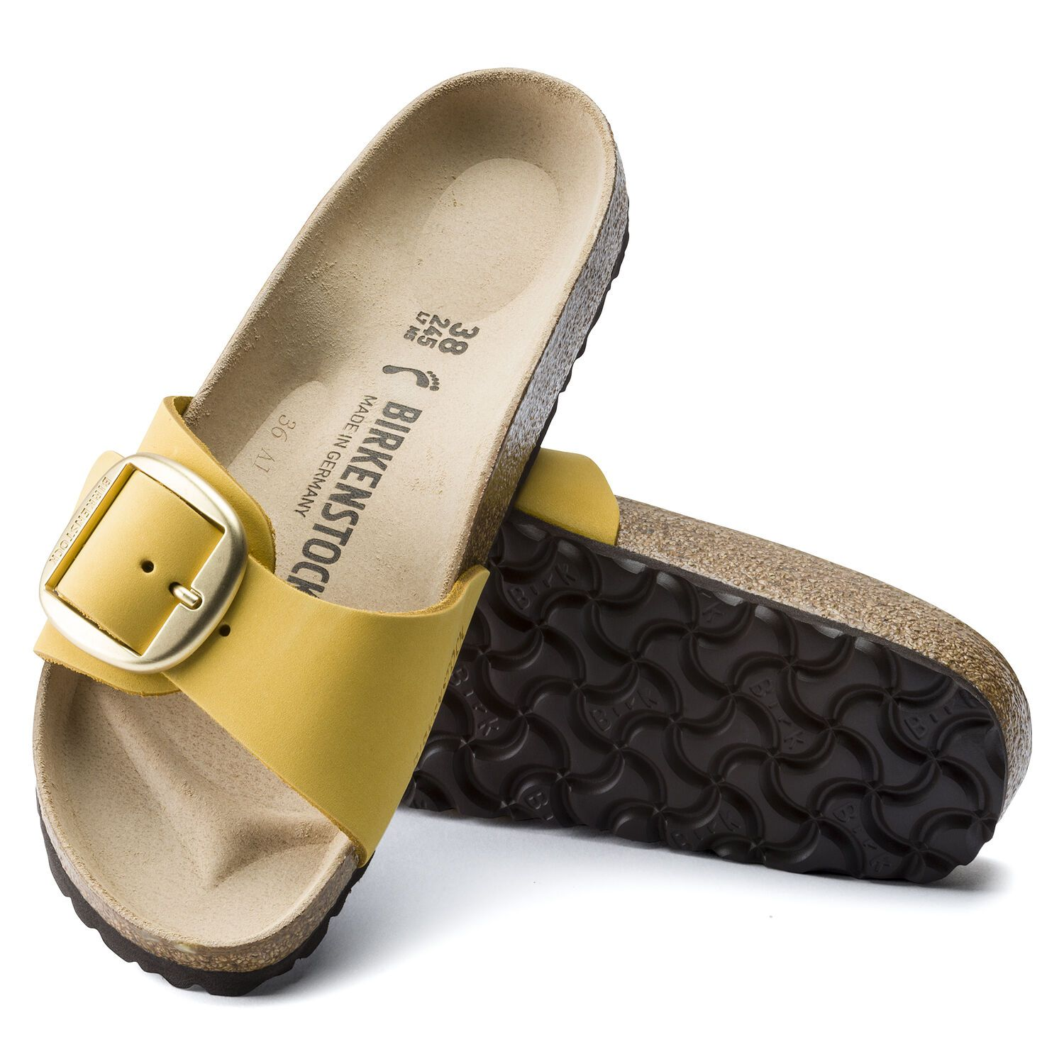 Birkenstock Sandália Madrid Big Buckle Nu Ochre Narrow