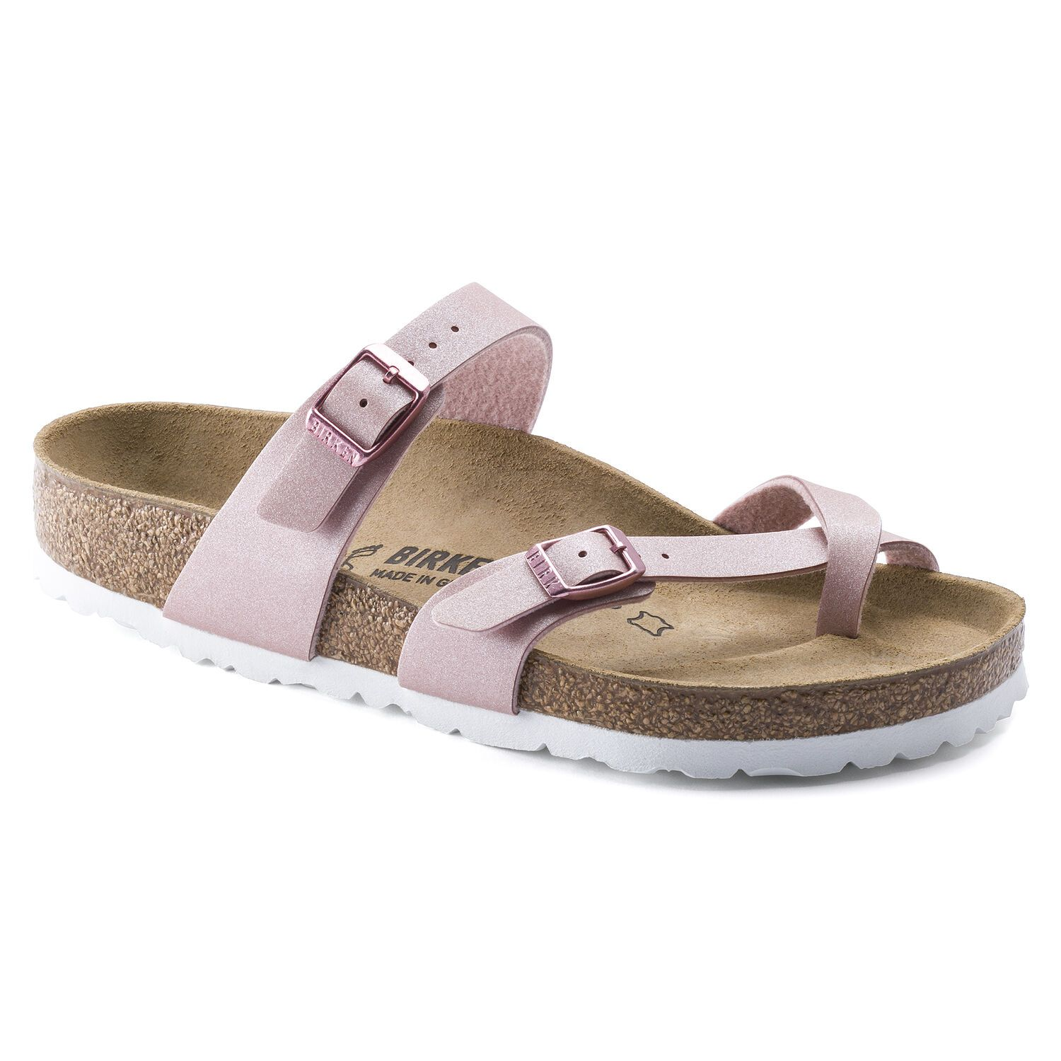 Birkenstock Sandália Mayari BF Icy Metallic Old Rose Regular