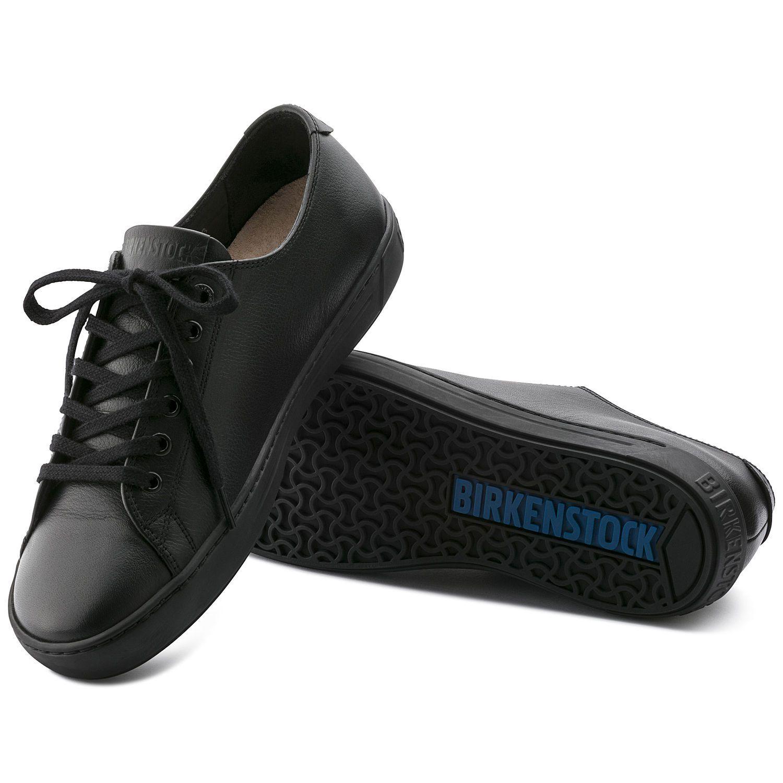 Birkenstock Sapato Arran Couro Natural Regular Preto