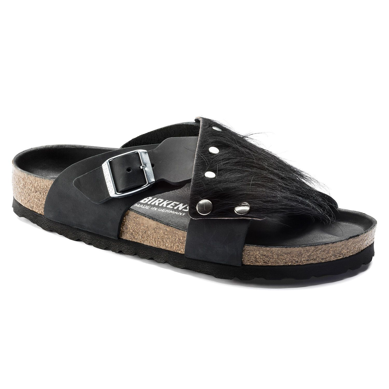 Birkenstock Tunis Guam Fur Nl Black/Black Hex Black Narrow EN