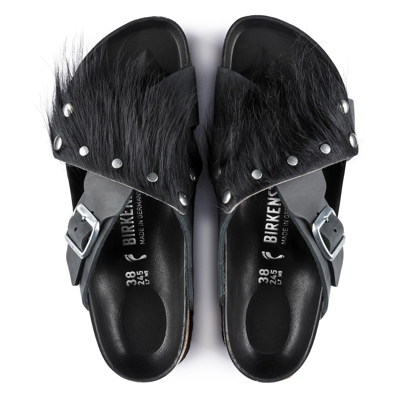 Birkenstock Tunis Guam Fur Nl Black/Black Hex Black Narrow