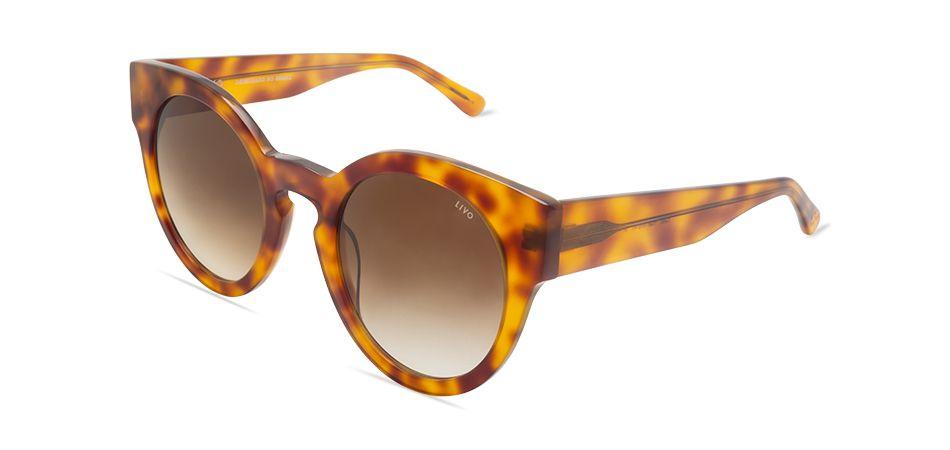 Livo Eyewear Leah Solar Demi Amarelo Marrom Degrade