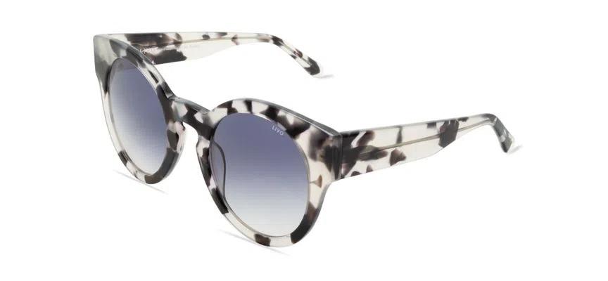 Livo Eyewear Leah Solar Demi Branco/Preto