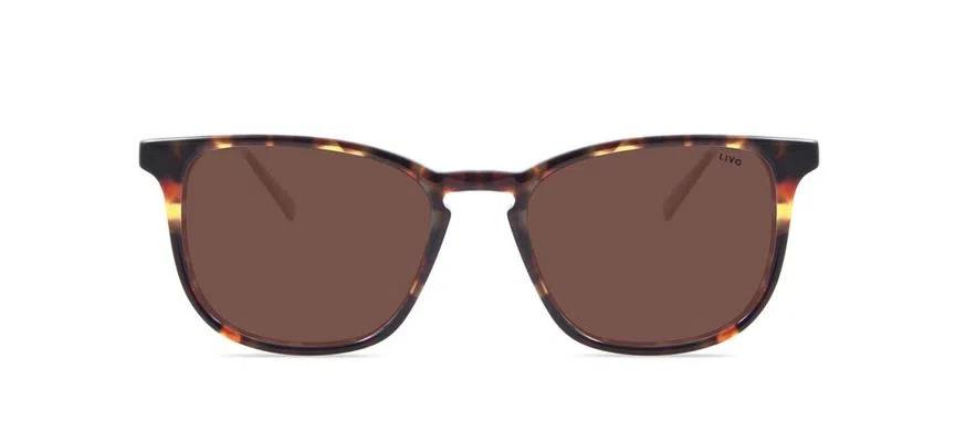 Livo Eyewear Leon Solar Demi Clássico Marrom
