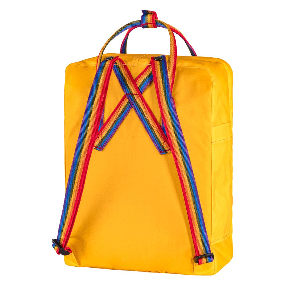 Mochila Fjällräven Kanken Unissex Warm Yellow Rainbow Pattern