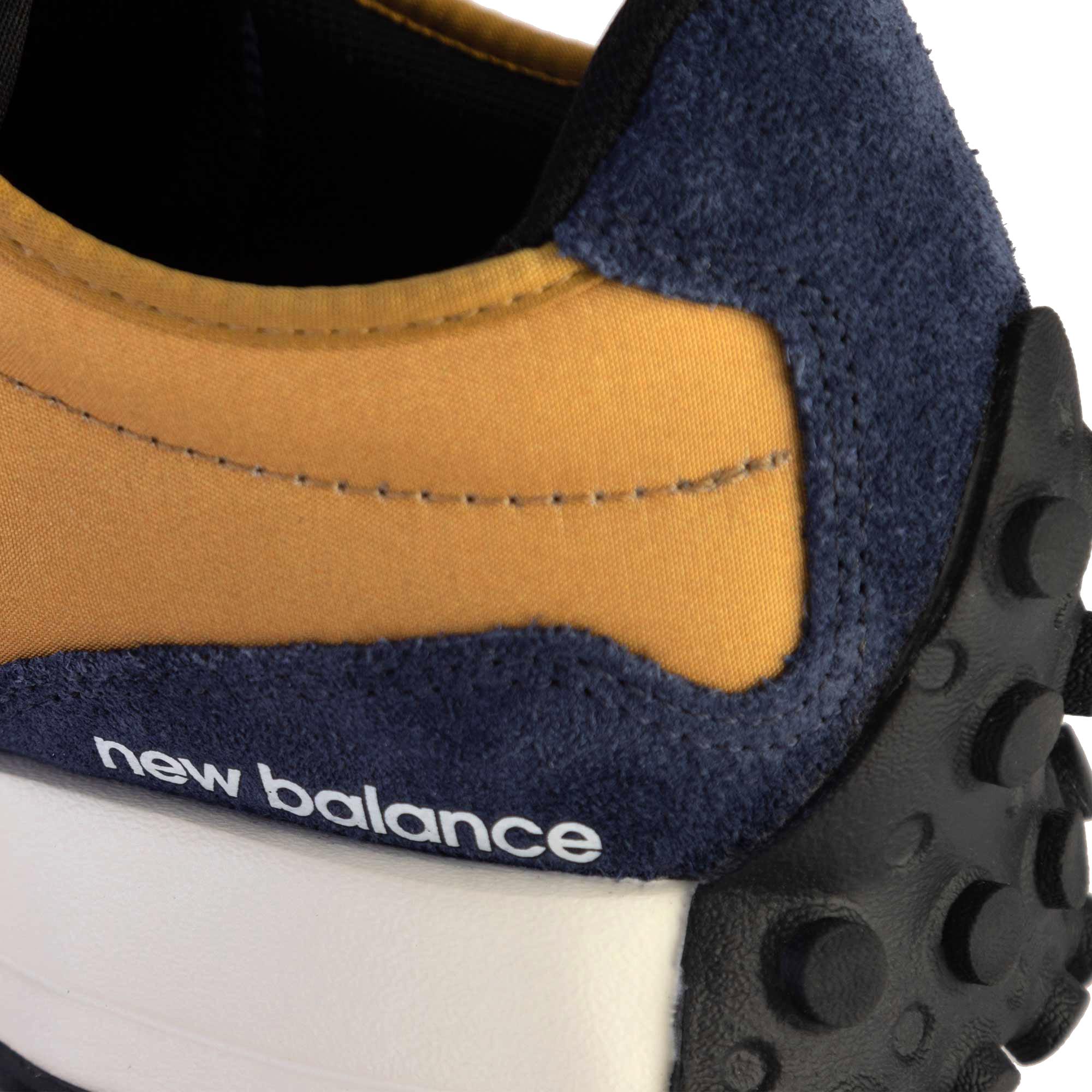New Balance Tênis 327 Casual Masculino Mostarda/Marinho MS327FL
