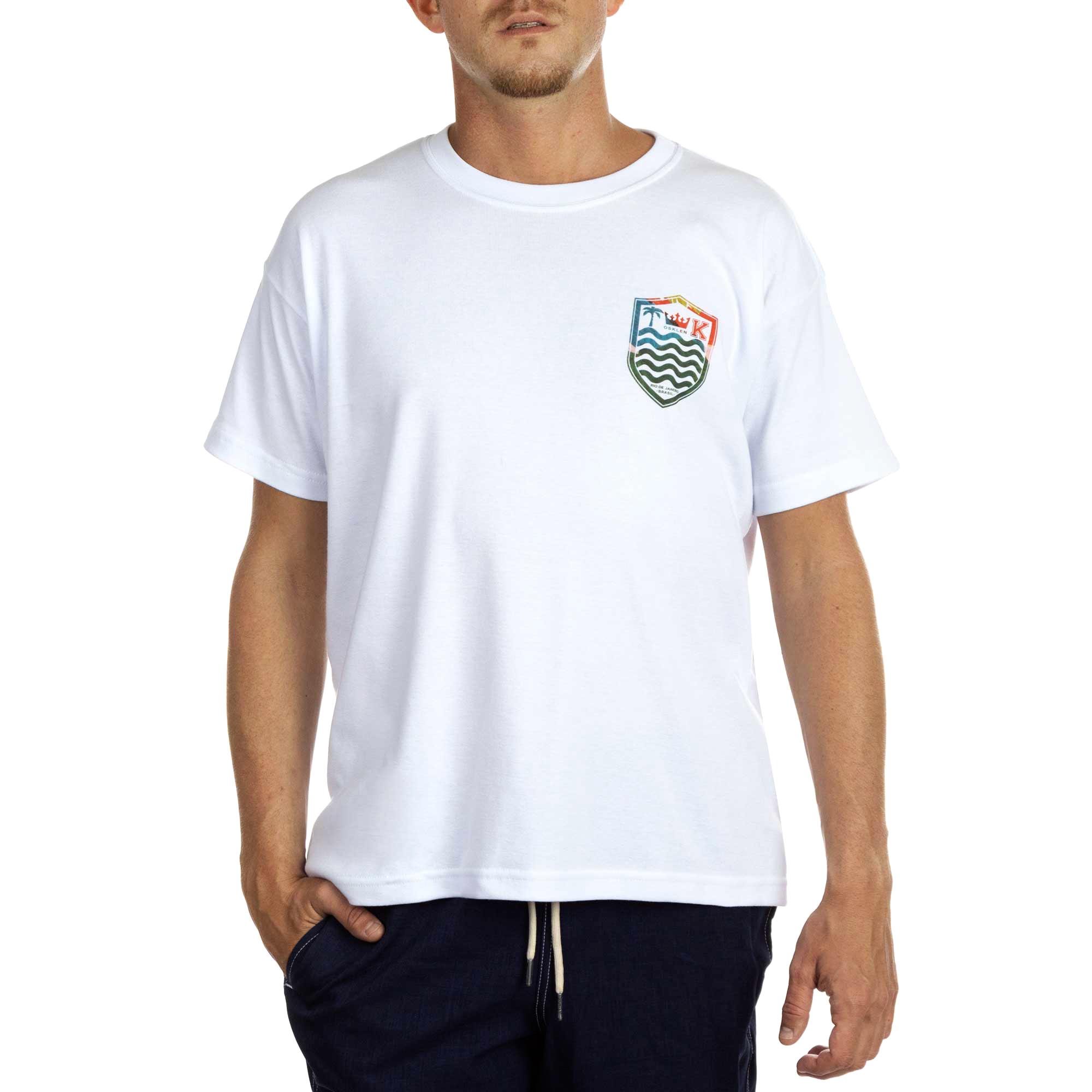 Osklen Camiseta  Big Shirt Hidrocolor Brasão Masculino Branco
