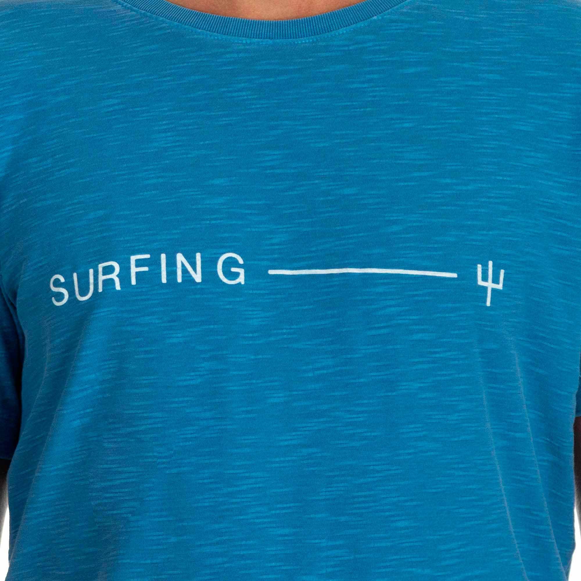 Osklen Camiseta Rough Surfing Manga Curta Masculino Azul Atlântico