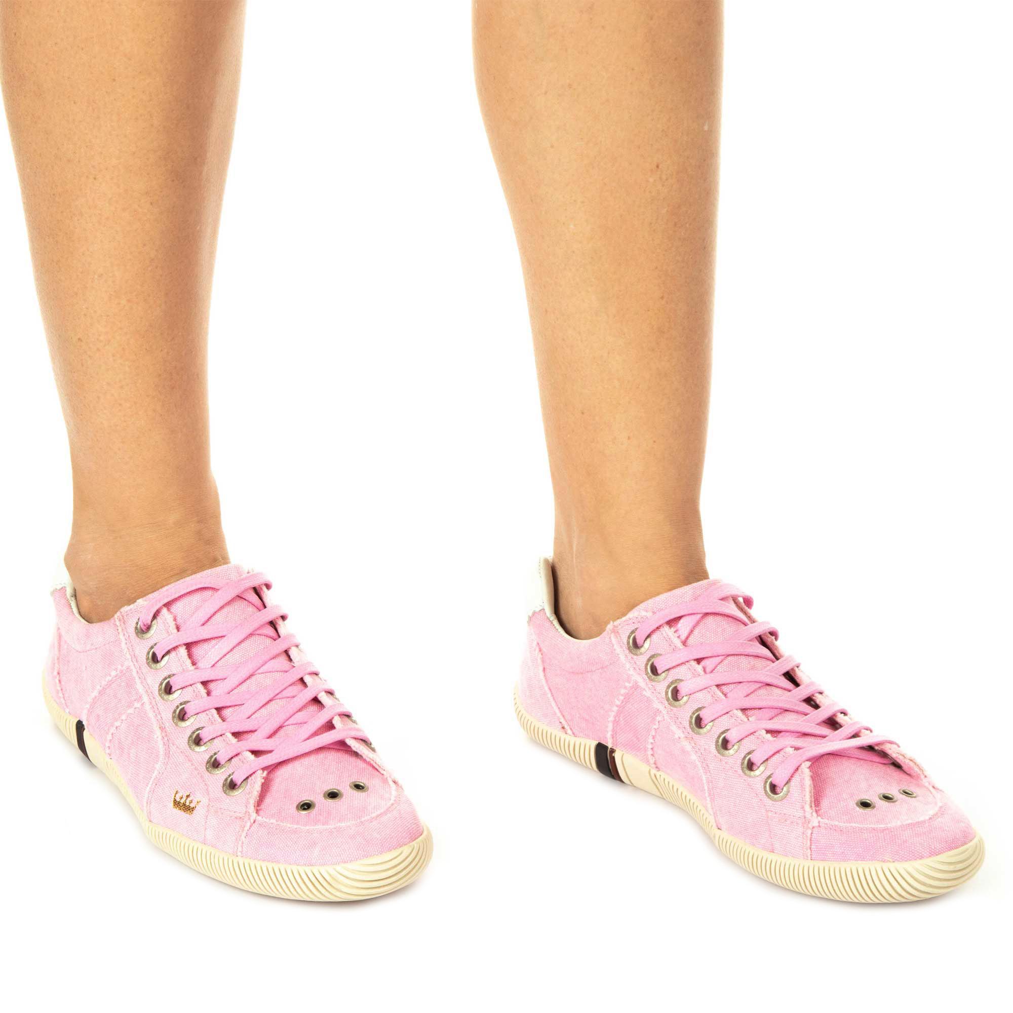 Osklen Sapatênis Riva Lona Stone Colour Feminino Pink