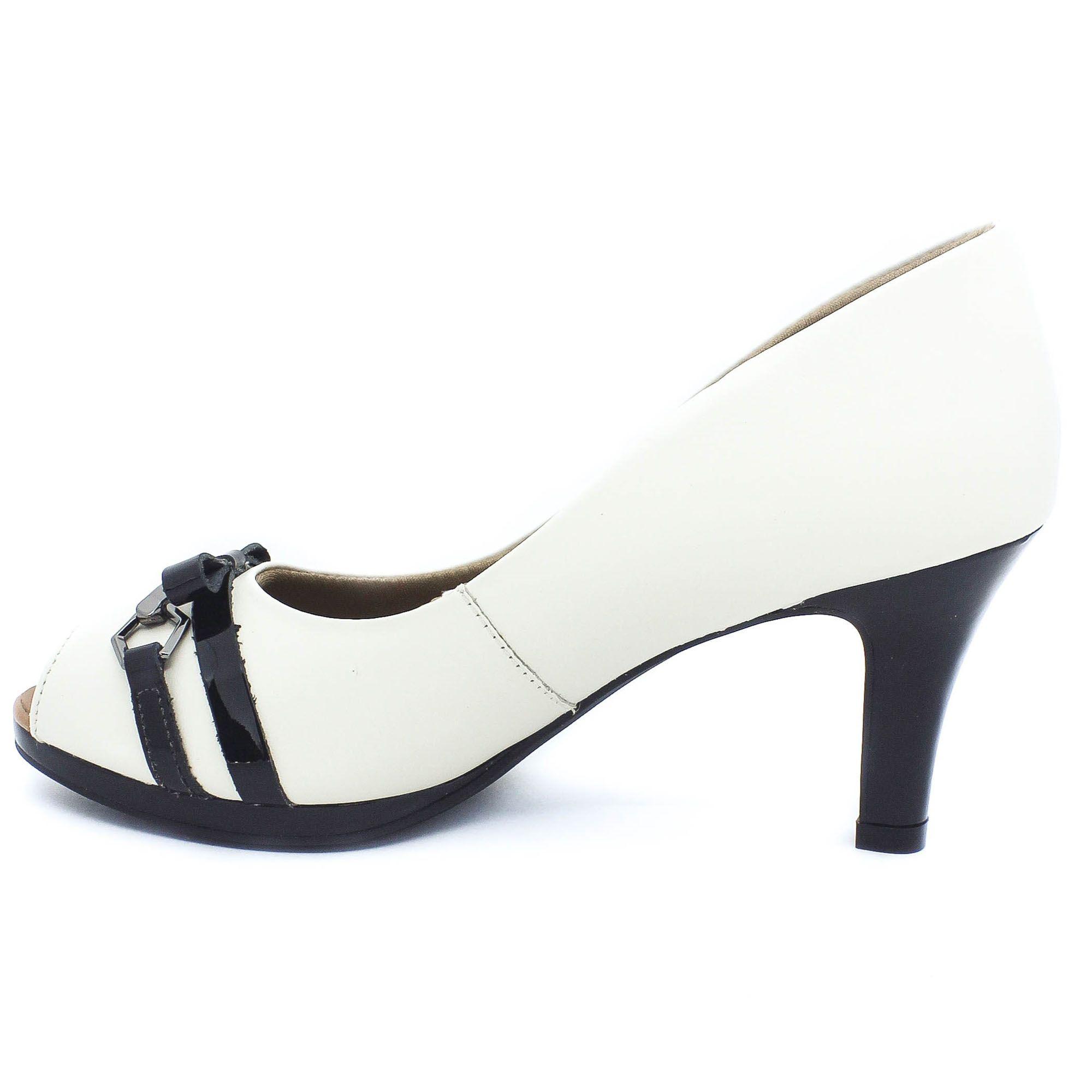 Usaflex Peep Toe Confort Branco