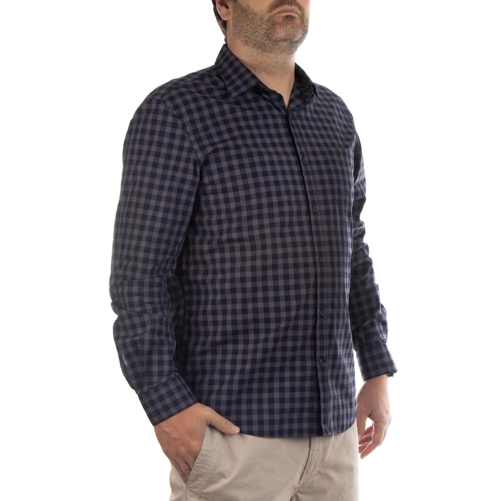 Richards Camisa Texas Xadrez Manga Longa Masculino Quadriculado