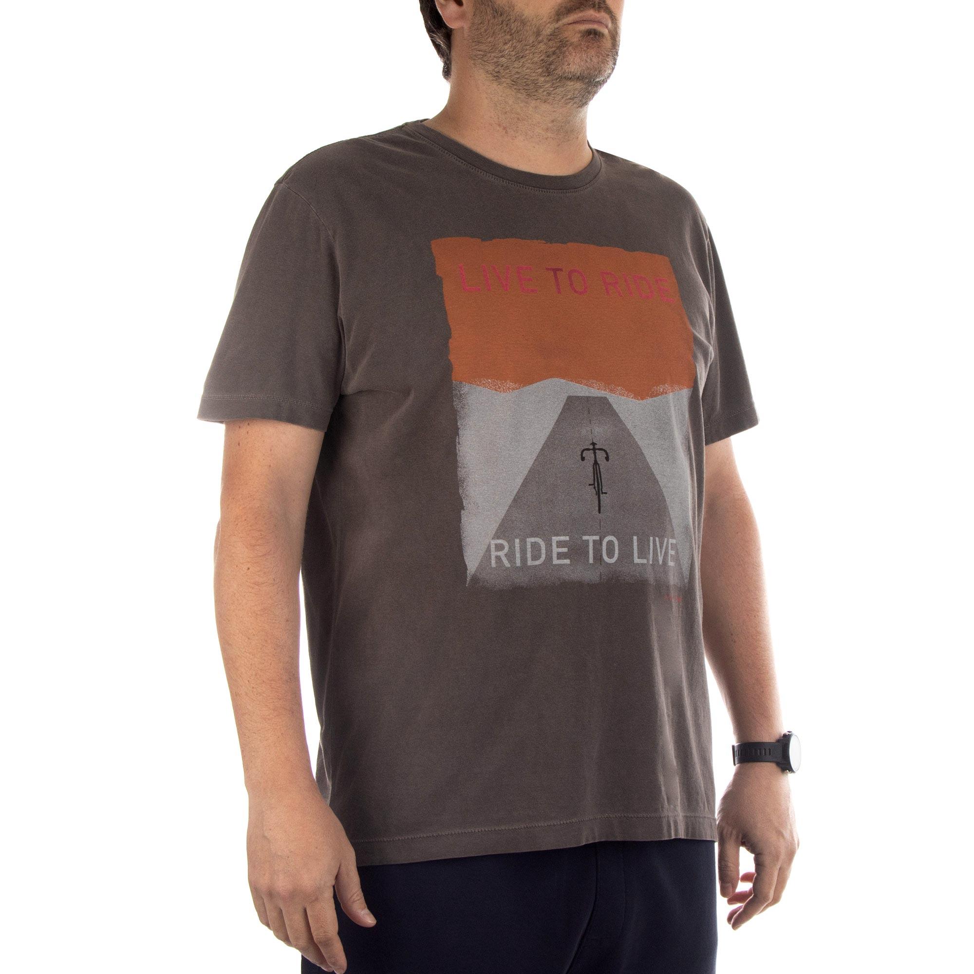 Richards Camiseta Malha Coraston Manga Curta Masculino Marrom
