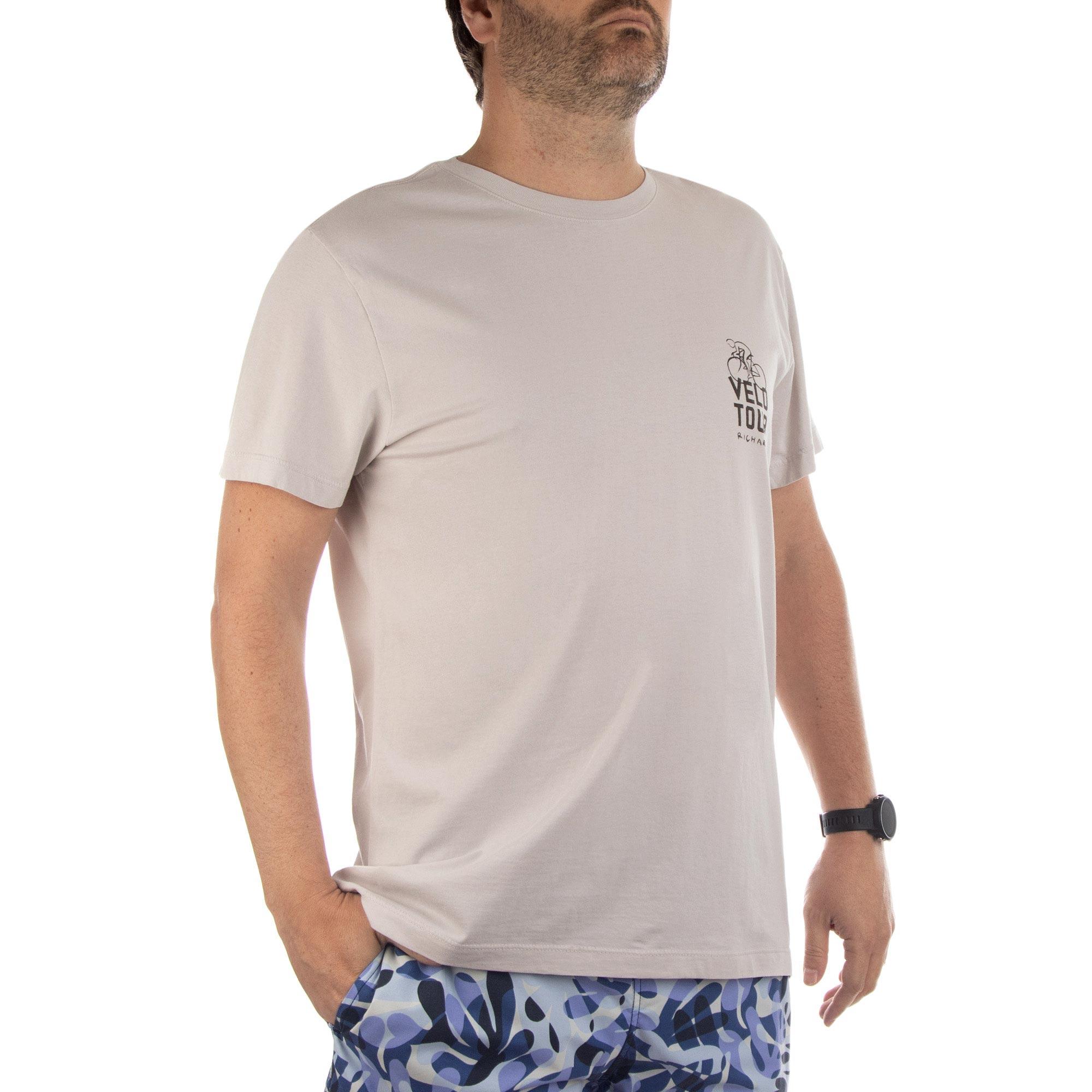 Richards Camiseta Malha Reativo Manga Curta Masculino Areia